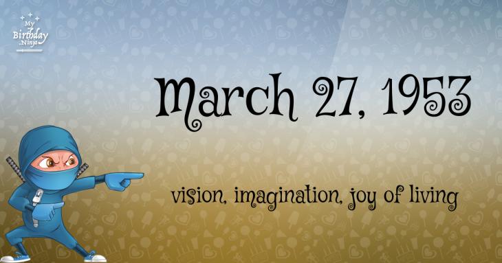 March 27, 1953 Birthday Ninja