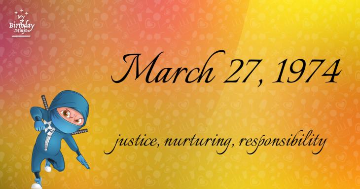 March 27, 1974 Birthday Ninja