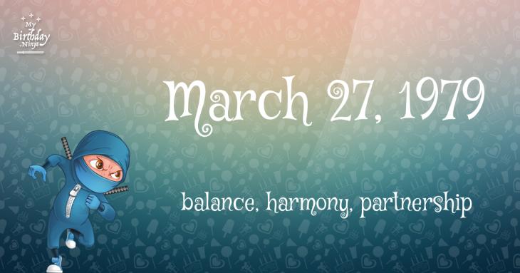March 27, 1979 Birthday Ninja