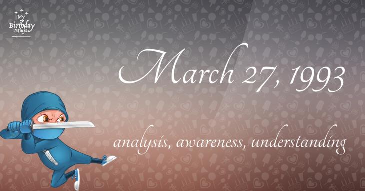 March 27, 1993 Birthday Ninja