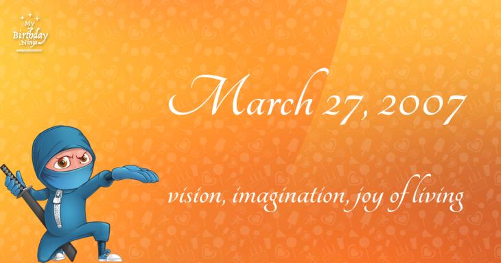 March 27, 2007 Birthday Ninja