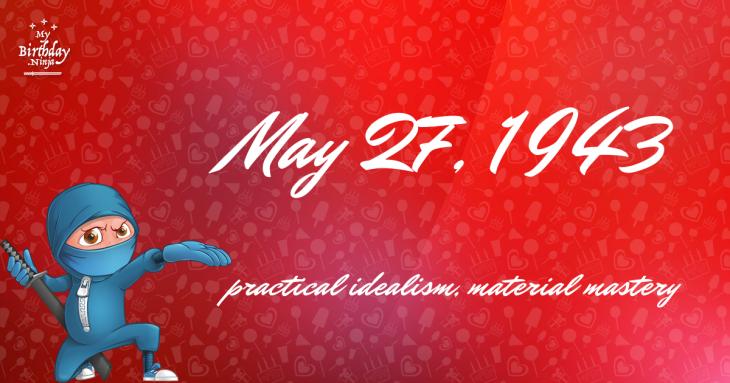 May 27, 1943 Birthday Ninja
