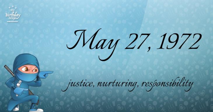 May 27, 1972 Birthday Ninja