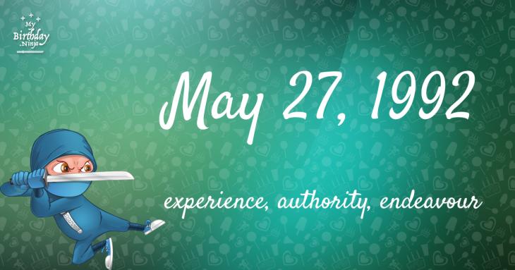 May 27, 1992 Birthday Ninja