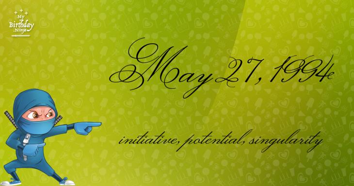 May 27, 1994 Birthday Ninja