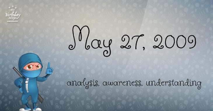 May 27, 2009 Birthday Ninja