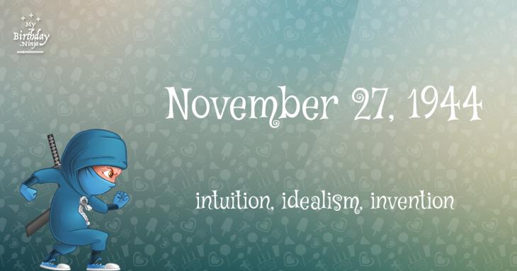 November 27, 1944 Birthday Ninja