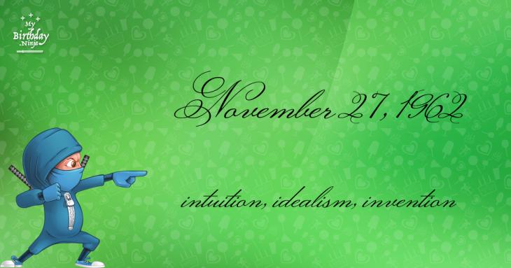November 27, 1962 Birthday Ninja