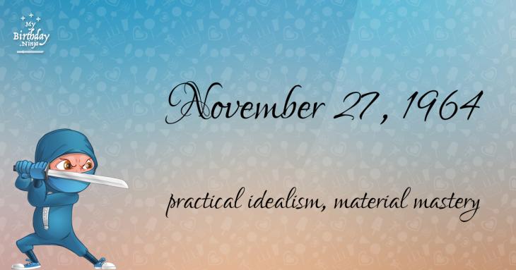 November 27, 1964 Birthday Ninja
