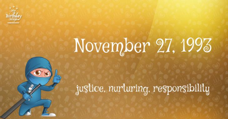 November 27, 1993 Birthday Ninja