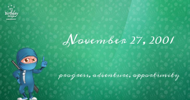 November 27, 2001 Birthday Ninja