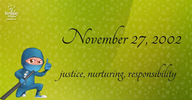November 27, 2002 Birthday Ninja