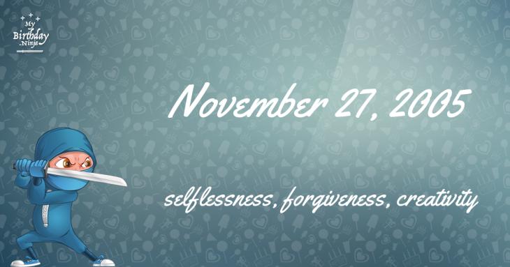 November 27, 2005 Birthday Ninja