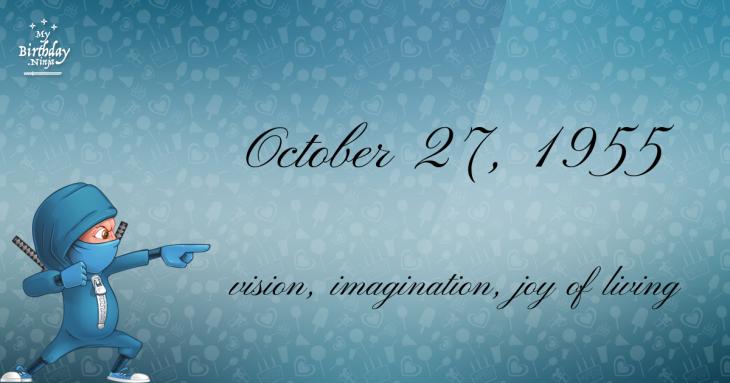 October 27, 1955 Birthday Ninja