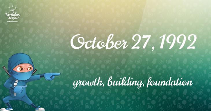 October 27, 1992 Birthday Ninja