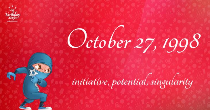 October 27, 1998 Birthday Ninja