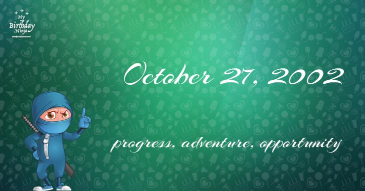 October 27, 2002 Birthday Ninja