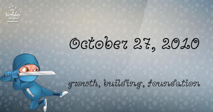 October 27, 2010 Birthday Ninja
