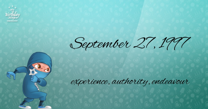 September 27, 1997 Birthday Ninja