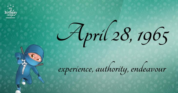 April 28, 1965 Birthday Ninja