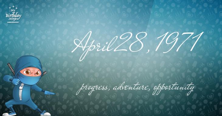 April 28, 1971 Birthday Ninja