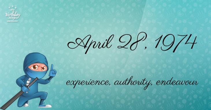 April 28, 1974 Birthday Ninja