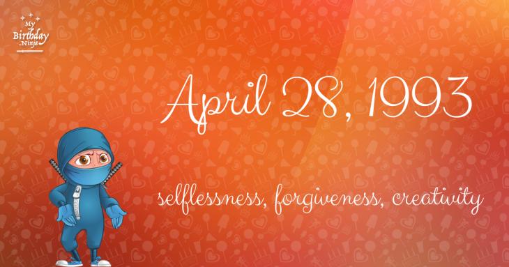 April 28, 1993 Birthday Ninja