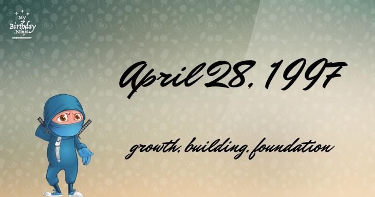 April 28, 1997 Birthday Ninja