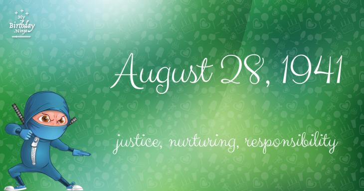 August 28, 1941 Birthday Ninja