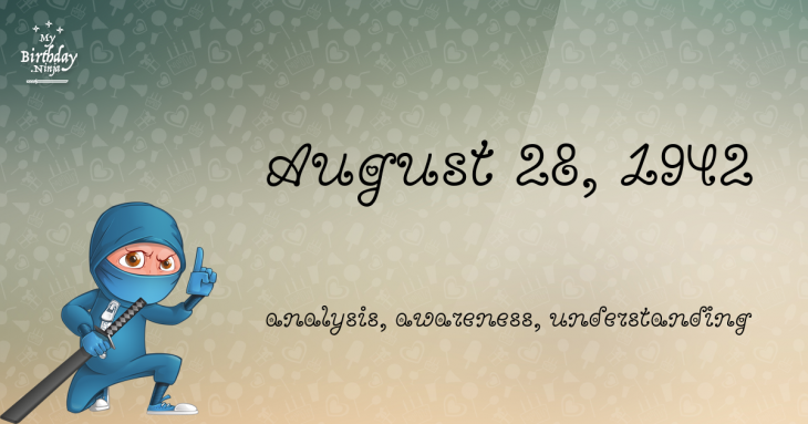 August 28, 1942 Birthday Ninja