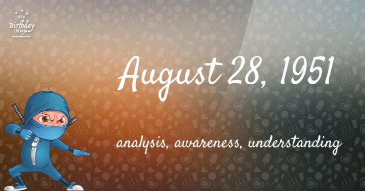 August 28, 1951 Birthday Ninja
