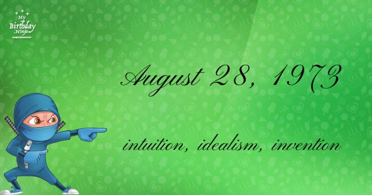 August 28, 1973 Birthday Ninja