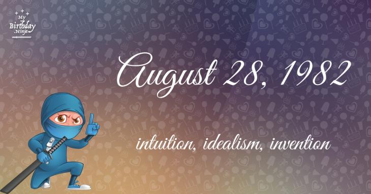 August 28, 1982 Birthday Ninja