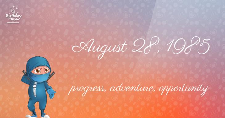 August 28, 1985 Birthday Ninja