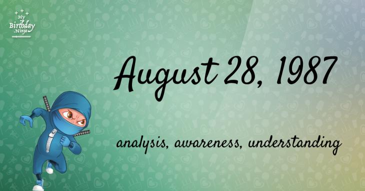 August 28, 1987 Birthday Ninja