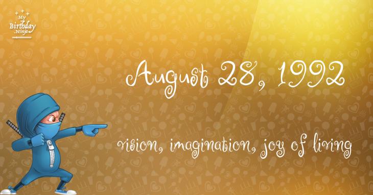 August 28, 1992 Birthday Ninja