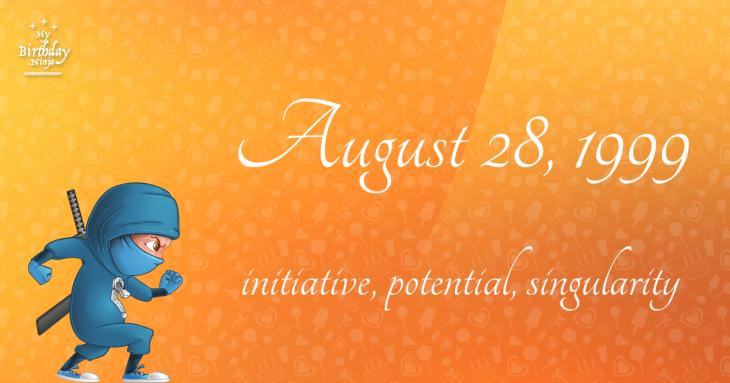 August 28, 1999 Birthday Ninja