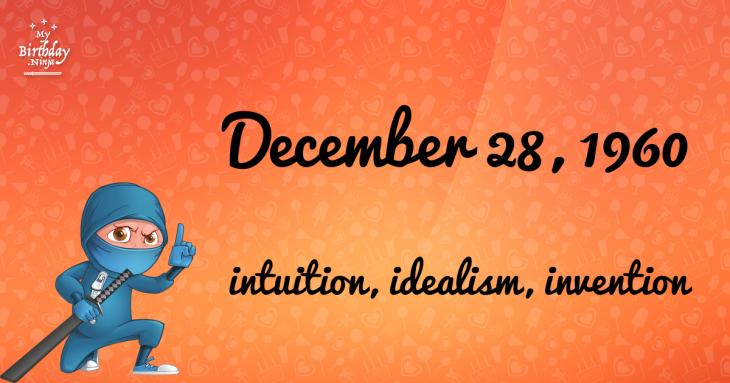 December 28, 1960 Birthday Ninja