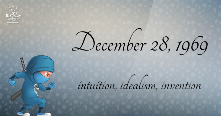 December 28, 1969 Birthday Ninja
