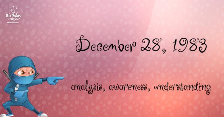 December 28, 1983 Birthday Ninja