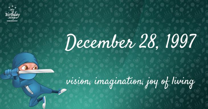 December 28, 1997 Birthday Ninja