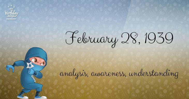 February 28, 1939 Birthday Ninja