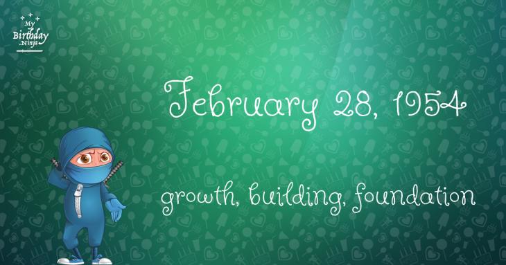 February 28, 1954 Birthday Ninja