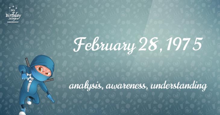 February 28, 1975 Birthday Ninja