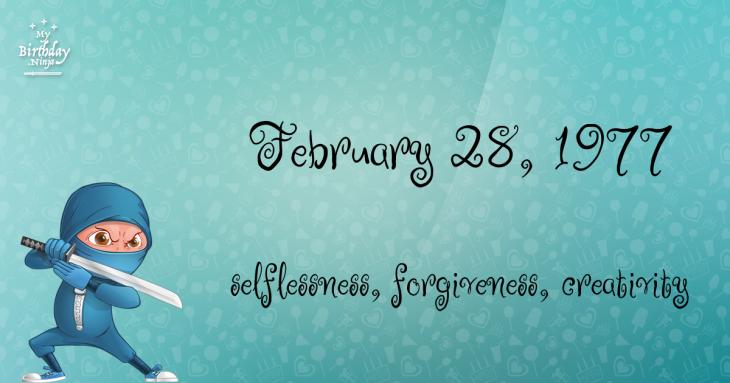 February 28, 1977 Birthday Ninja