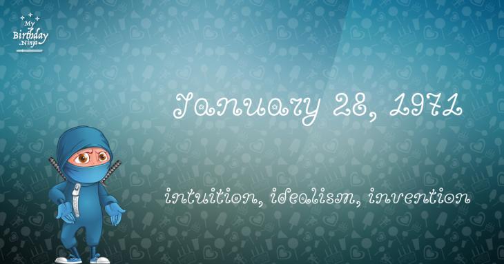 January 28, 1971 Birthday Ninja