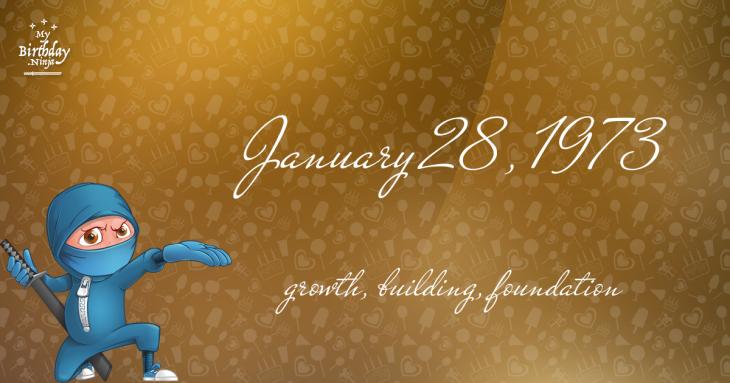 January 28, 1973 Birthday Ninja