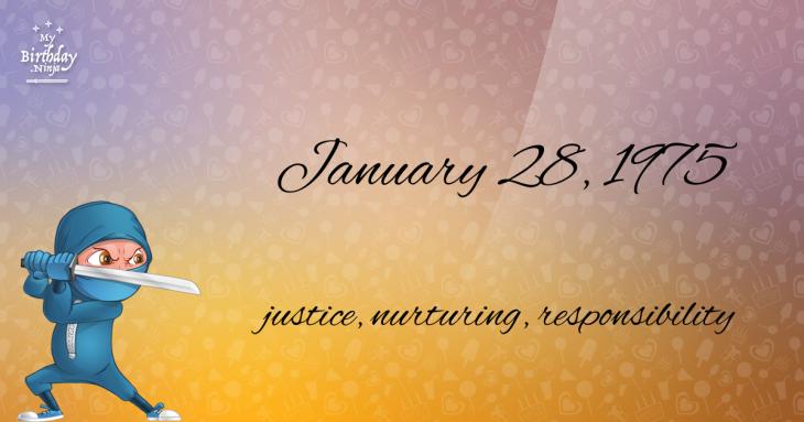 January 28, 1975 Birthday Ninja