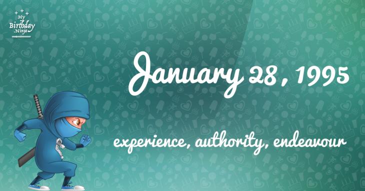 January 28, 1995 Birthday Ninja