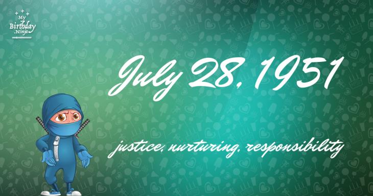 July 28, 1951 Birthday Ninja